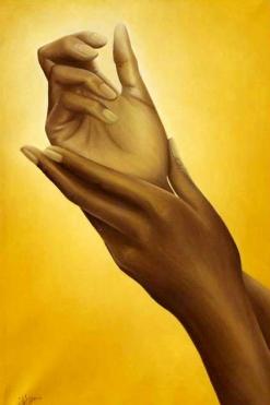 Voci silenziose, oil on canvas